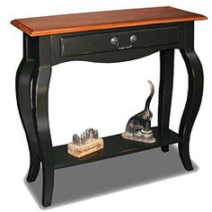 Brown Cherry/ Slate Solid Wood Console Table | Overstock™ Shopping - Great Deals on KD Furnishings Coffee, Sofa & End Tables