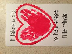 Handprint Thank You Card Ideas Note If Your Reading This And Your