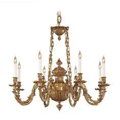 Metropolitan Lighting Chandelier in Classic Brass Finish | N700408 | Destination Lighting