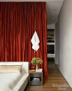 curtain room divider via AT by Mudrick, via Flickr