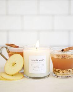 Apple Cider soy blend candle {The Little Market}