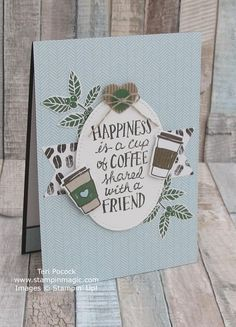 Coffee Cafe by Stampin Up. Created by UK Independent Demonstrator Teri Pocock. Click through for more details.#teripocock #stampinup #stampinupuk #coffeecafe