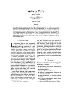 sample of article writing LaTeX Templates