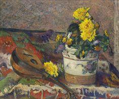 All sizes | Paul Gauguin - Dahlias and Mandolin [1883] | Flickr - Photo Sharing! Paul Gauguin, Pierre Auguste Renoir, Edouard Vuillard, Oil On Canvas, Canvas Art, Impressionist Artists, National Gallery Of Art, Art Moderne, Henri Matisse