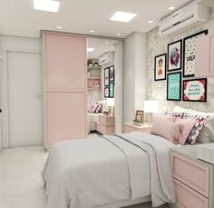 43 cute and girly bedroom decorating tips for girl 18 Girl Bedroom Designs Bedroom Cute Decorating Girl Girly tips Living Room Paint, New Living Room, New Room, Bedroom Decorating Tips, Bedroom Ideas, Diy Bedroom, Small Space Bedroom, Small Spaces, Girl Bedroom Designs