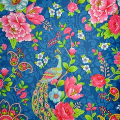 Pip Studio Flowers In The Mix Wallpaper Dark Blue on shopstyle.co.uk