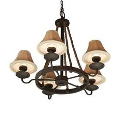 allen   roth�5-Light Bronze Portable Outdoor Chandelier  Must have this summer!