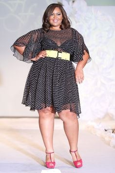 Paisley. A Plus Size Fashion Adventure: sonsiwoman: Our Full Figured Fashion Week... sheer and belted dress