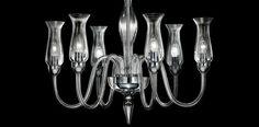Lampa wewnętrzna, wisząca De Majo 2612 K6 Cristallo/Cromo, Ambrato/Oro id: 30 | Wszystkie Lampy wewnętrzne \ LAMPY WISZĄCE Kolekcje \ DE MAJO