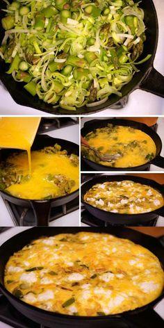 Asparagus, Leek, and Goat Cheese Frittata - Detoxinista