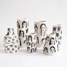 3D Girls Vases