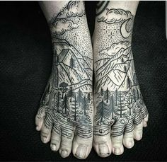 Girl you need a pedicure but sick tattoo idea