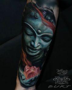 Tattoos I've done and tattoos I like Cool Forearm Tattoos, 3d Tattoos, Great Tattoos, Body Art Tattoos, Tatoos, Buddhism Tattoo, Buda Tattoo, Geometric Henna, Hanya Tattoo