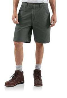 Carhartt Mens B25 Washed Duck Work Short - Moss | Buy Now at camouflage.ca