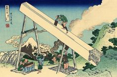 Hokusai The Fuji from the mountains of Totomi