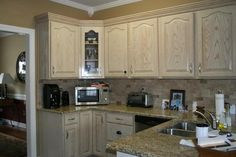 White wash ideas on pinterest whitewash kitchen cabinets kitchen cabinets and cabinets - Whitewashed oak cabinets ...
