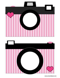 Cameras from Paris Pink Printable Photo Booth Prop Set
