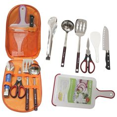 """Camp Kitchen Metal Camping Cooking Utensil Food Knife Carry Case Cutting Board <a class=""""pintag searchlink"""" data-query=""""%23RunningTrade"""" data-type=""""hashtag"""" href=""""/search/?q=%23RunningTrade&rs=hashtag"""" rel=""""nofollow"""" title=""""#RunningTrade search Pinterest"""">#RunningTrade</a>"""