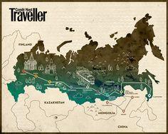 Trans-Siberian Railway map