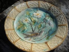 Antique French Decorative Majolica Plate  by NormandyCollectables, €55.00