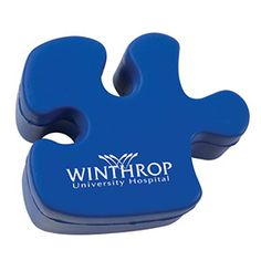 Choose this soft, squeezable Puzzle Piece-Shaped Stress Reliever for a successful promotion. Perfect for autism awareness campaigns.