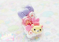 Chibi Moon and other cute things decoden cell phone case.