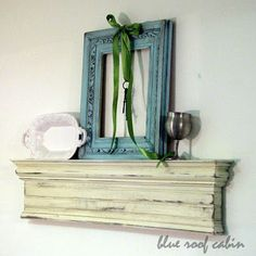 Make your own mantle shelf... why didn't I ever think of making one?!