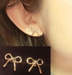 Simply Bow Rose Gold Earrings | LilyFair Jewelry, $9.99!