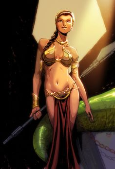 Slave Leia by olivernome.deviantart.com on @deviantART