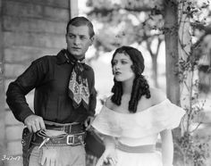 Joan Crawford as Betty Dallas and Rex Lease as the handsome but villainous Solitaire Kid in 'The Law of the Range' directed by William Nigh for MGM 21st October 1927