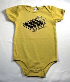 Organic baby bodysuit That's How I Roll onesie Sushi by LEFTright, $24.00