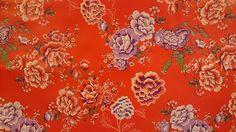 Tafelzeil kitsch rozenmotief   rood   VIA CANNELLA KOOKWINKEL   CUIJK   www.viacannella.nl