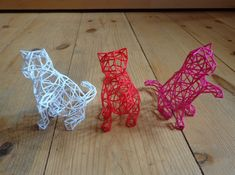3D Wire Kitten 3d printed Sculptures For Your Home