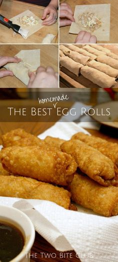 The Best Homemade Egg Rolls | thetwobiteclub.com