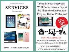 We are an independent #iPhonerepair,#Laptoprepair, #MacBookrepair shop in #Oxford and We offer #mailinrepairservices 5% for all customers.