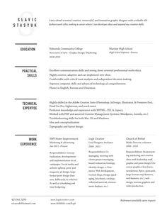 resume design/ layout