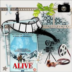 Happy Scrap Arts-Freebies: New kit At the Movies DC of the month may