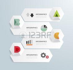 Design moderno modelo infogr Banco de Imagens