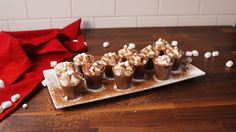 Hot Cocoa Pudding Shots  - Delish.com