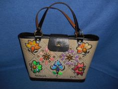 GORGEOUS IN THE BOX! Vintage Enid Collins Patchwork Jewel Canvas Purse EXCELLENT #EnidCollins #TotesShoppers