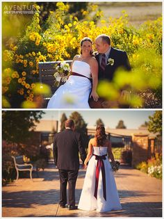 Rachel + Dan's Wedding Photos in Montrose Colorado. tons of flowers.