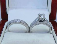 Affordable Wedding Ring Sets - Beautiful Designer Wedding Ring Sets in almost any style you can imagine. Wedding Ring Sets Unique, Beautiful Wedding Rings, Wedding Ring Designs, Wedding Sets, Wedding Band, Wedding Goals, Wedding Cakes, Engagement Ring Settings, Engagement Rings