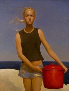 Eyes on American realist painter Bo Bartlett. Born on December 1955 in Columbus, Georgia, Bo Bartlett is an extraordinary American realist painter. American Realism, American Artists, Claudio Bravo, Bo Bartlett, Realistic Paintings, Art Moderne, Art Plastique, New Artists, Figure Painting