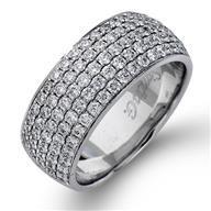 Simon G Diamond Pave Set 18k - White Gold Womens Wedding Bands