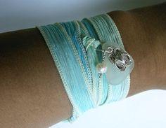 flip flop bracelet on silk