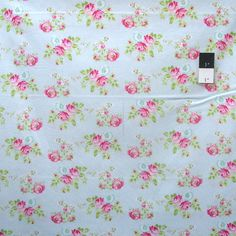 Tanya Whelan PWTW119 Zoey's Garden Zoey's Rose Blue Cotton Fabric By Y