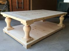 DIY Coffee Table   Restoration Hardware Knockoff