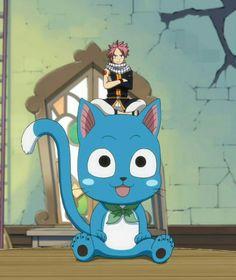 Giant Happy, Natsu, cute; Fairy Tail