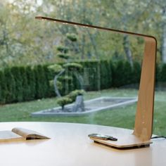 beautiful lamp and charging station...