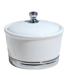 Another great find on #zulily! White York Large Canister by InterDesign #zulilyfinds